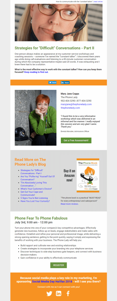The Phone Lady newsletter
